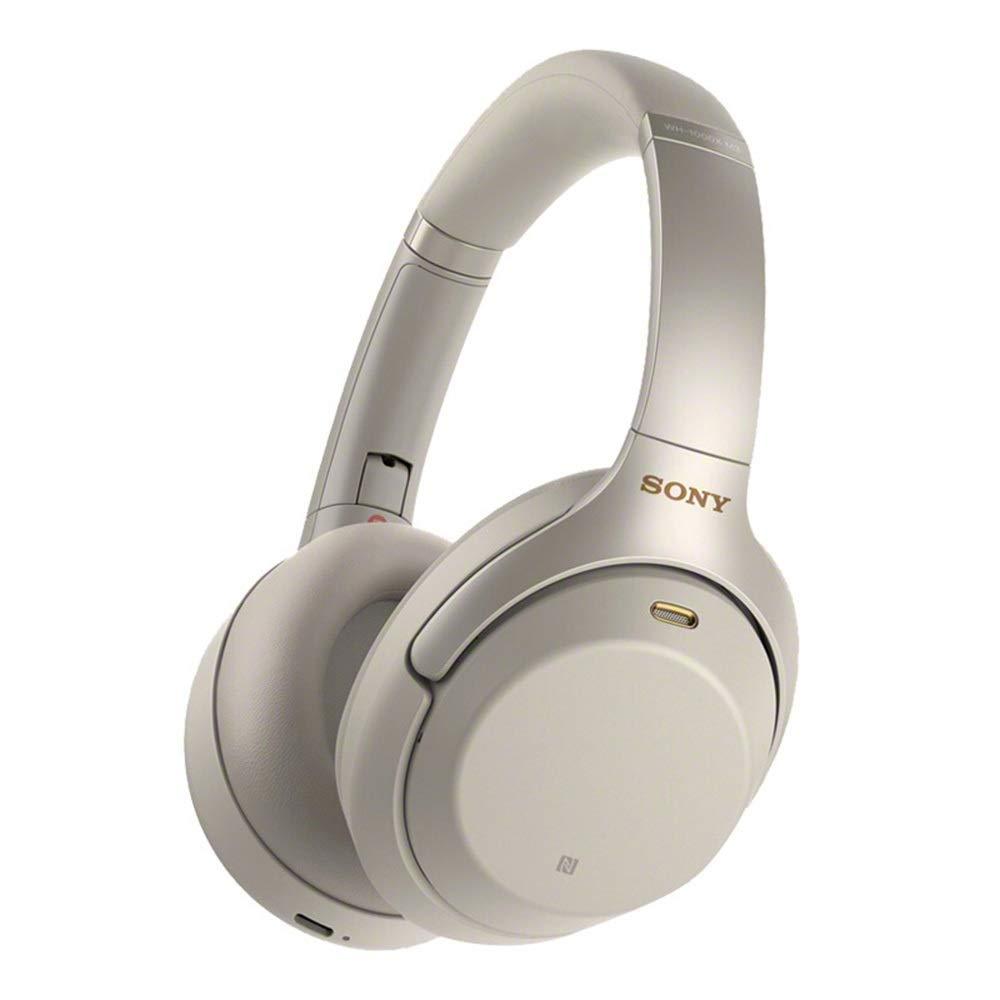 ワイヤレスBluetoothヘッドフォンオーバーヘッドヘッドセットノイズキャンセリングNFC機能タッチパネルハンズフリー通話 (Color : White) B07R4DSGJV