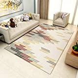 GIY Striped Living Room Area Rugs 3D Rug Rectangular Carpets Children Bedroom Mats Outdoor Indoor Home Decor Runners 1.5' X 2'