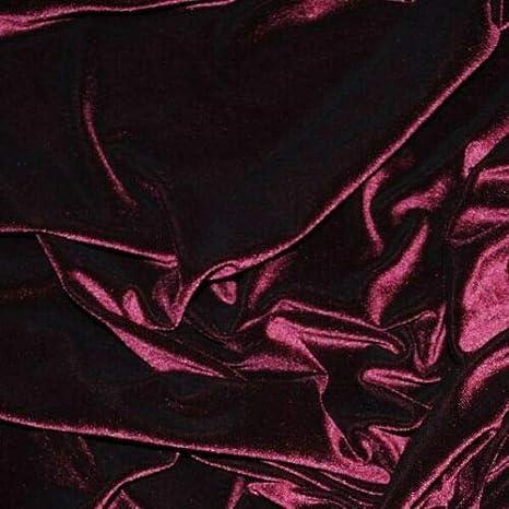 Tejido de terciopelo Violeta Decoración Vestido de cortina de terciopelo suave fuerte material de 165cm de ancho