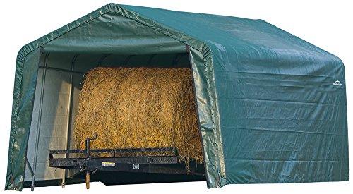 ShelterLogic 12 x 20 x 8-Feet Peak Style Hay Storage Shelter