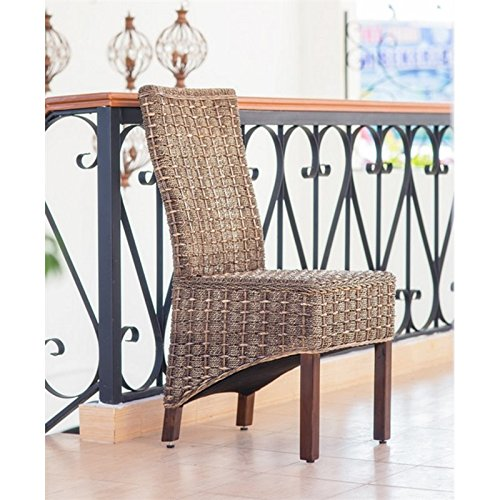 International Caravan SG 3301 2CH IC Furniture Piece Set Of Two Bayu Banana  And Seagrass Dining Chairs