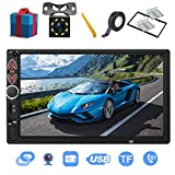 Double Din Car Stereo-7 inch Touch Screen,Compatible with BT TF USB MP5/4/3 Player FM Car Radio,Support Backup Rear View Camera, Mirror Link,Caller ID, Upgrade The Latest Version