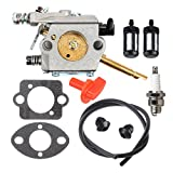 Panari WT-45 Carburetor + Fuel Line Filter Spark Plug for STIHL FS48 FS52 FS62 FS66 FS81 FS86 FS88 String Trimmer