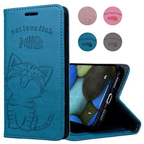 煙突ジャニス事実上CinoCase iPhoneXS max ケース アイフォンXS max カバー 手帳型 猫 魚 可愛い エンボス加工 マグネット式 財布型 スタンド式 合皮レザー 全面保護 薄型 耐衝撃 カード収納