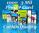 Prayer Card Qty 1000 3 Mil Hot Thermal Laminating Laminator Pouches Sheets 2.75 x 4.5 Ultra Clear. & Free Carrier Sleeve's. See Photos for Product Quality & Clarity