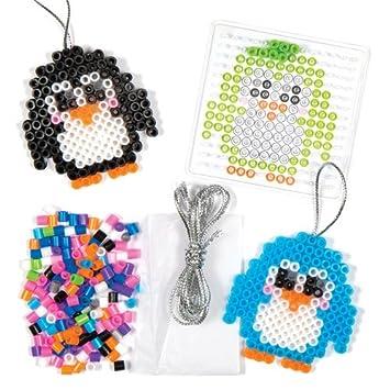 Weihnachtliches Bastelset Für Pinguin Anhänger Aus Bügelperlen Für