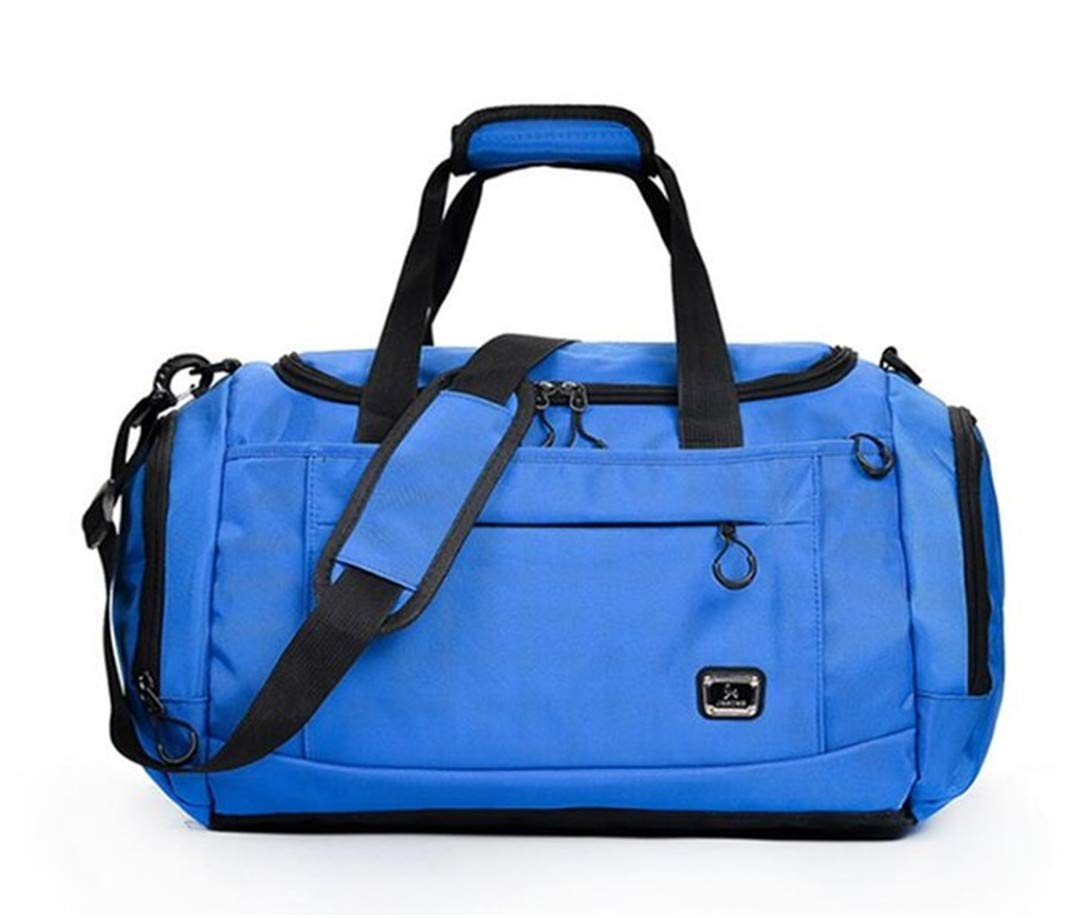 Nylon Outdoor Unisex Portable Waterproof S Gym Bags For Fitness Training Yoga Deep blue