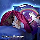 Dream Bed Tents for kids, Foldable Magic Play Tent, Pop Up Bed Tent Fairy Playhouse Play Tent Bedroom Festival Decoration Tent (Unicorn Fantasy)