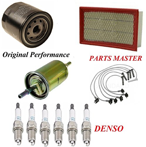 8USAUTO Tune Up Kit Air Oil Fuel Filters Wire Spark Plug Fit FORD EXPLORER SPORT TRAC V6 4.0L 2007-2010
