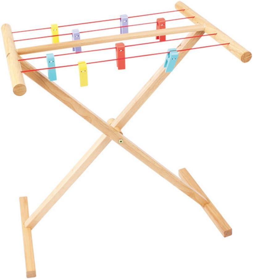 Bigjigs Toys Holz-Wäscheständer Kinder
