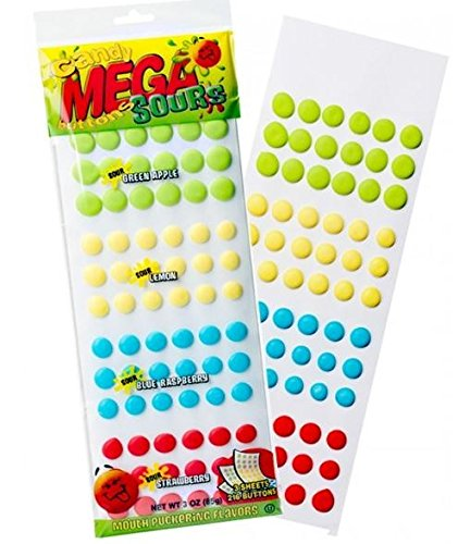 - Sour Mega Candy Buttons Sheets 24ct