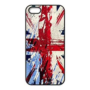 iPhone 5 5S Case Black British Flag Cell Phone Case Cover N2D8CY