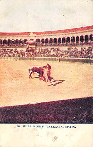 Bull Fight Tarjeta Postal Bullfighting Valencia, Spain ...