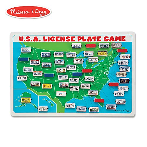 (Melissa & Doug U.S.A. License Plate Game (Wooden