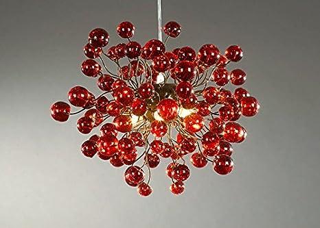 Kronleuchter In Rot ~ Großhandel dale chihuly stil rot murano glas lampen moderne kunst