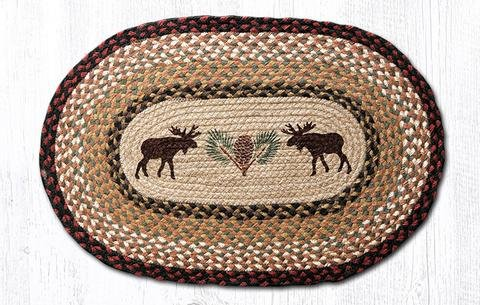 Heart of America Moose/Pinecone Oval Patch 27 in. by 45 in. -