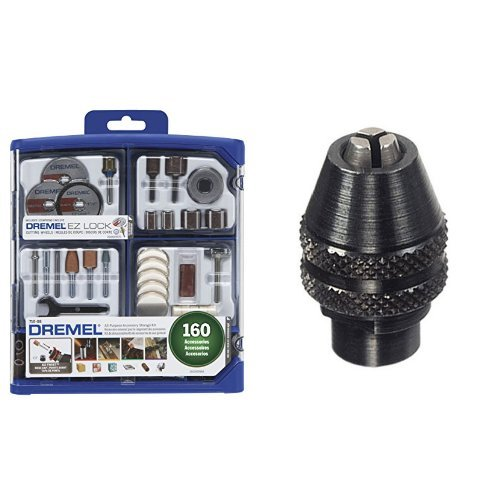 Dremel 710-08 160-Piece All-Purpose Rotary Accessory Kit with MultiPro Keyless Chuck