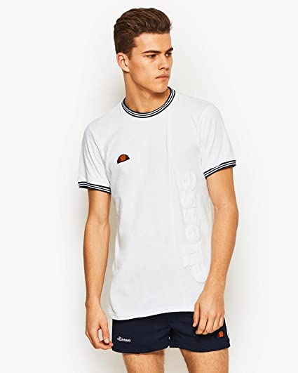 3786f3ee ellesse Visconti Mens White T Shirt L: Amazon.co.uk: Clothing