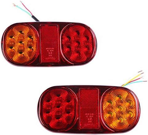 Aohewei 2stk Led Anhänger Rückleuchten Bremsleuchte Für Lkw 12v Blinklicht Wasserdicht Beleuchtung Hinten Zum Auto Lkw Wohnwagen Oder Traktor 14 Led Chips 2pcs Auto