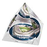 MLB New York Yankees Stadium Crystal Pyramid Paperweight