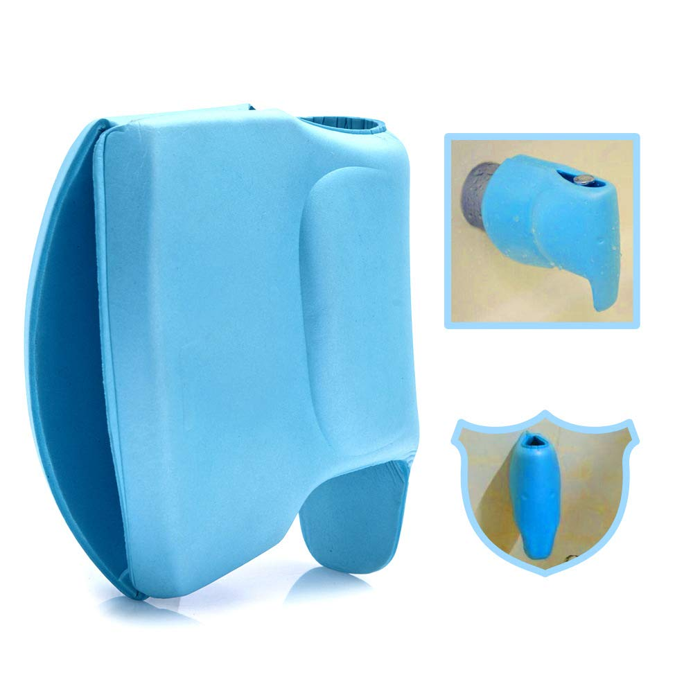 Bathtub Faucet Cover for Kids Blue Tub Spout Cover Baby Bath Spout Cover Tub Faucet Protector for Baby A Tool to Protects Your Kids from Getting Hurt On The Faucet-Faucet Cover Baby