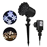 Greenclick Christmas Decoration Projector Lights Outdoor Projector Waterproof Moving Flurry Snowflake Spotlight LED Landscape Projector for Indoor and Outdoor Use