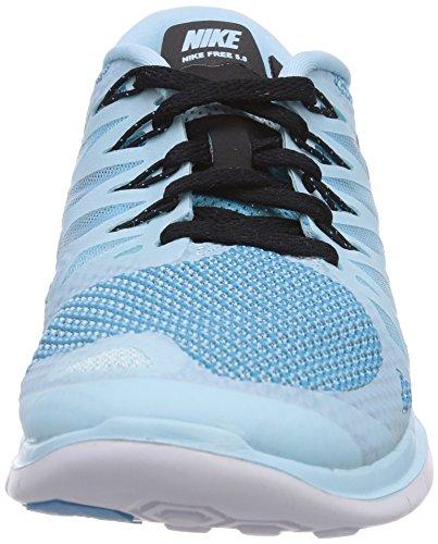 Nike - Wmns Nike Free 5.0, Scarpe Da Corsa da donna, Turchese (Ice Cube Blue/Black-Clearwater), 38