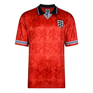 Official Retro England 1990 World Cup Finals Away Retro Shirt 100%  POLYESTER  Amazon.co.uk  Sports   Outdoors b42fa2327