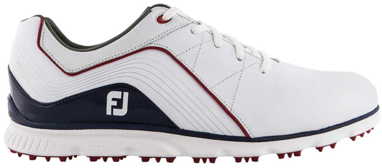FootJoy Men's Pro SL Spikeless Golf Shoes 53269 - White/Navy - 11.5 - Wide by FootJoy