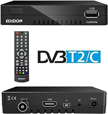 Edision Progressiv Hybrid Lite - Sintonizador de TV: Amazon.es: Electrónica
