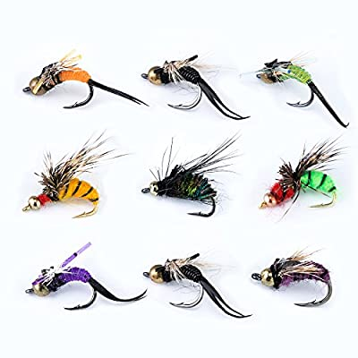 Piscifun® 12pcs Dry Flies/ 40pcs Wet Flies Fly Fishing flies Kit Bass Salmon Trouts Flies Floating/Sinking Assortment with Fly Box