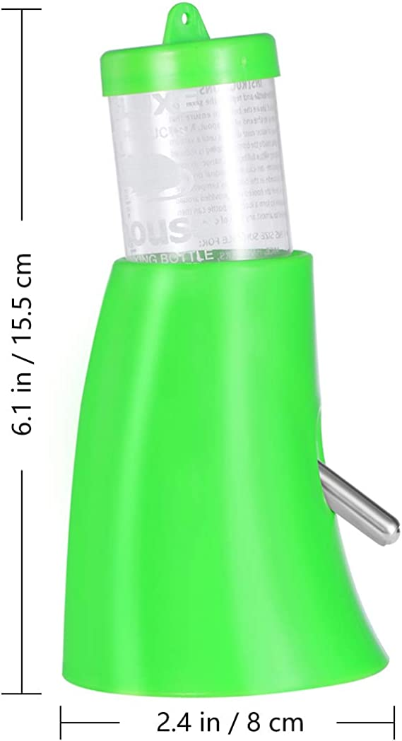 Verde POPETPOP Piccolo nascondiglio Animale Domestico Nascondino Bere 2 in 1 Borraccia con Base in plastica Habitat Vivente per Criceto