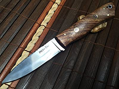 Handmade Hunting Knife - Beautiful Bushcraft Knife with Sheath