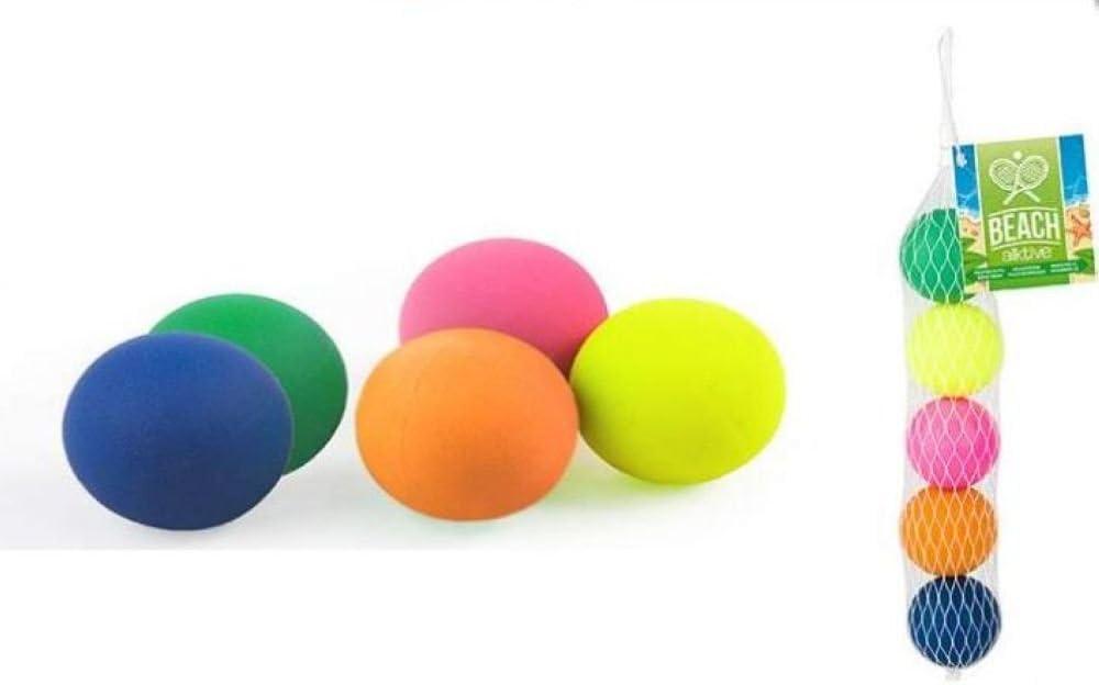 Color Baby - Set de 5 Pelotas para Palas Playa (53253): Amazon.es ...