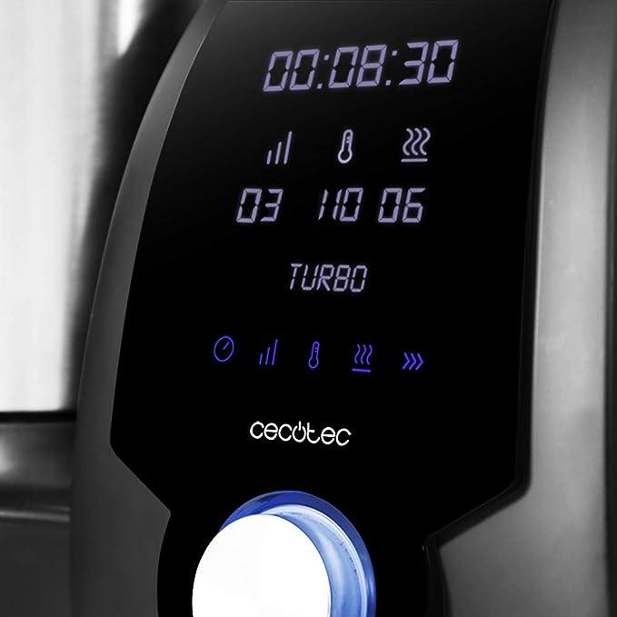 Cecotec Mambo 6090 Robot de Cocina Multifunción, Capacidad de 3,3l, Temperatura hasta 120ºC con Selección Grado a Grado, 10 Velocidades + Turbo, Programable hasta 12h, Incluye Recetario, 1700 W: Amazon.es: Hogar