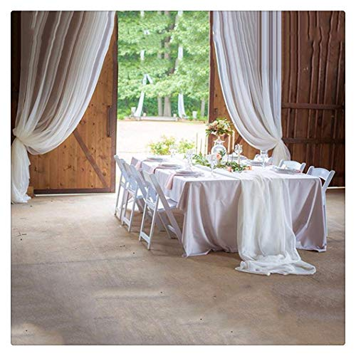 (SoarDream Christmas Table Runner - 2 Pieces White Chiffon for Dining Thanksgiving Tablecloth for Holiday Make Your Table Elegant 27