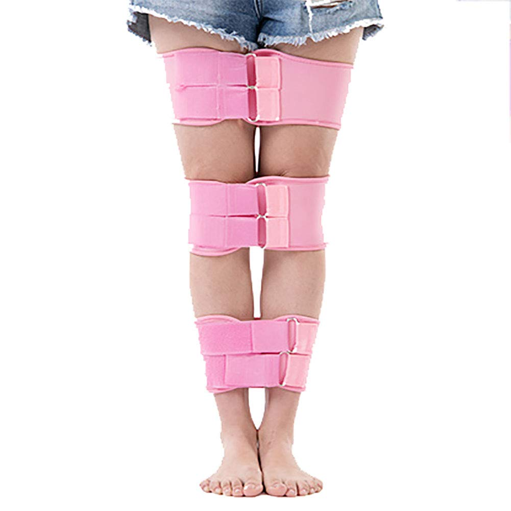 ZHLXZ Adjustable O-Type Legs X-Type Leg Correction Tape Posture Corrector Belt Recovery Beauty Straightening Leg O X Leg Belt Fixer 3 Pcs Set,Pink,XXL