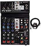Package: Peavey PV 6BT PV6BT Pro Audio Mixer With 2 Mic Inputs, Bluetooth, USB, Compressor/Effects 2 Combo XLRs, and 3 Band EQ + 4 Channel AutoTune + Peavey PV 20' XLR Female to Male Low Z Mic Cable