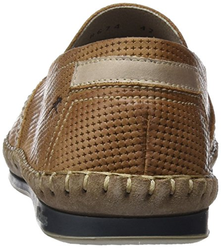 Uomo Fluchos Brown Bahamas Mocassini Marrone q7XxEwr7
