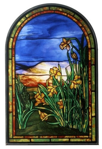 Tiffany Daffodils Stained Glass - Stained Glass Daffodil
