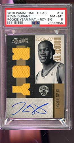 2010-11 Panini Timeless Treasures Kevin Durant AUTO Autograph Graded Card 8 - PSA/DNA Certified - Basketball Slabbed Autographed Cards