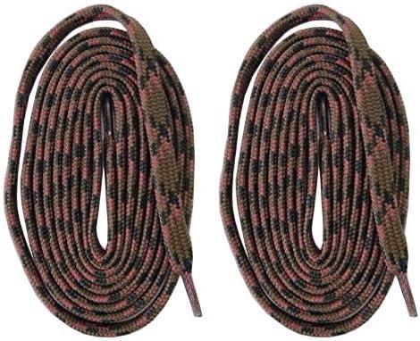 平紐タイプ 2本1組シューレース 靴紐 くつひも 長さ約200cm カーキーxピンク スニーカー トレッキング 登山 ハイキング 交換