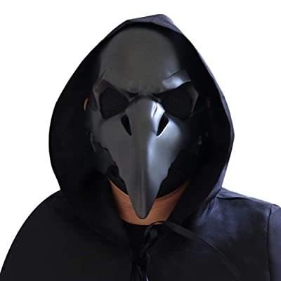 Forart Plague Doctor Bird Mask Long Nose Beak Cosplay Steampunk Halloween Costume Props Masquerade Party Costume Mask: Home & Kitchen