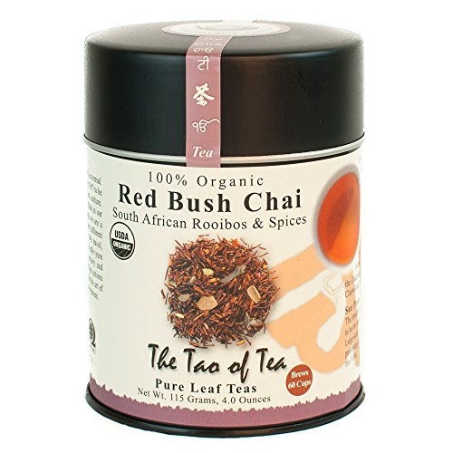 - The Tao of Tea, Red Bush Chai Rooibos Tea, Loose Leaf, 4-Ounce Tins (Pack of 3)