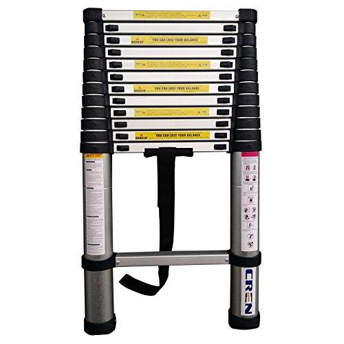 Extend Ladder 12 5 : Cren en std ft aluminum portable telescopic