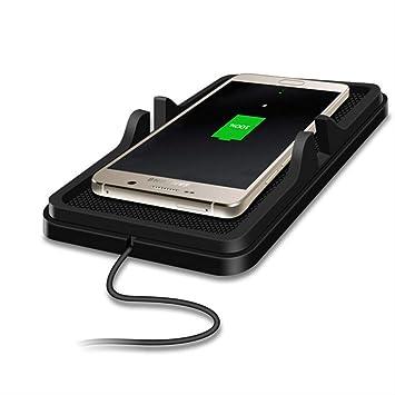 hhatt Cargador De Coche Inalámbrico para iPhone X 8 7 Plus ...