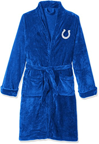The Northwest Company Officially Licensed NFL Indianapolis Colts Men's Silk Touch Lounge Robe, -