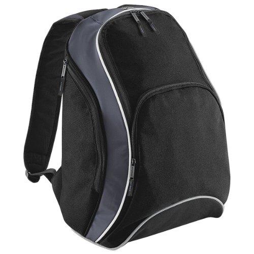 Bagbase Bg571 Teamwear Zaino Nero / Grigio Grafite / Bianco