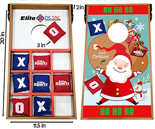 Toys Junior Ring (Junior Cornhole Bean Bag Toss Game for Kids - Reversible, 2 Games on 1 Board - Tic Tac Toe and Cornhole Party Games for Kids -)