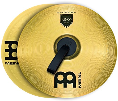 Meinl 18'' Marching Cymbal Pair with Straps - Brass Alloy Traditional Finish - Made In Germany, 2-YEAR WARRANTY (MA-BR-18M) by Meinl Cymbals (Image #1)